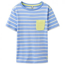 Top - Joules Boys -  Olly - Blue Stripe -7-8
