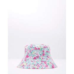 Hat - Joules Girls Sunseeker - Cream ditsy and yellow  - s/m (AGE 3 TO 7Y)