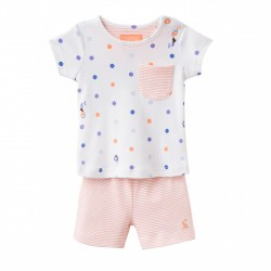 Set - Joules Baby Lundy - top/shorts  - girls Mermaids - 6-9m SALE - last one