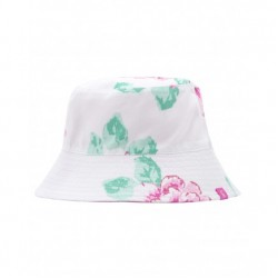 Hat - Joules Girls Sunseeker - Reversible - Pink Spot / white flower-  s/m ( 3 -7Y)