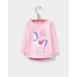 Top - Joules Baby Ava top - ROSE PINK UNICORN - 6-8, 9-12, 12-18, 18-24m