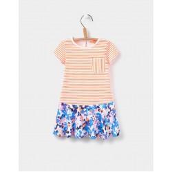 Dress - Joules Baby Jessica - bright orange stripe 3-6, 12-18, 2-3y in SALE