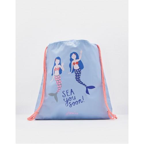 Bag - Joules Girls ACTIVE DRAWSTRING BAG - Mermaids