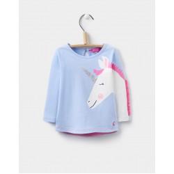 Top - Joules Baby Zany Sky Unicorn 9-12, 18-24m