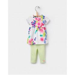 Set - Joules Baby Seren  - dress/leggings - Ocean bloom  -in sale - 9-12, 18-24m