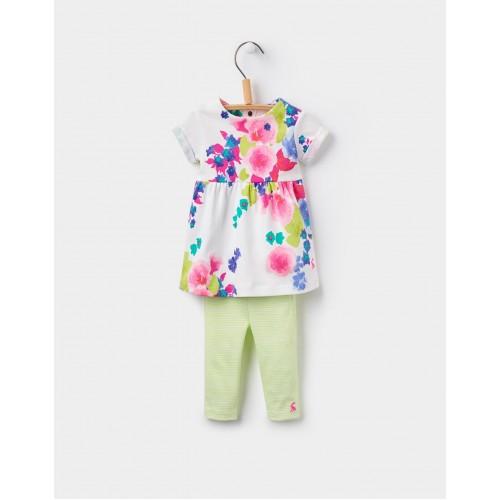 Set - Joules Baby Seren  - dress/leggings - Ocean bloom  -in sale 9-12, 12-18m, 18-24m