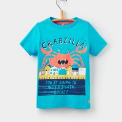 Top - Joules Ben Blue Crab - 3-4y last one in sale