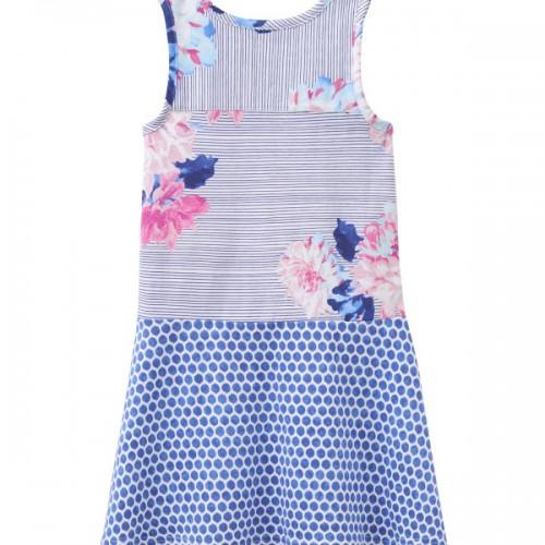 Dress - Joules Girls PATSY in Posy stripe - 3-4, 5-6y,