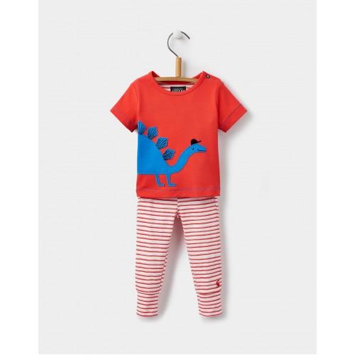SET - Joules Baby Doodle - red stegosaurus   - 12-18, 18-24m - sale
