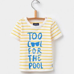 Top - Joules Baby FINLAY T-SHIRT - yellow stripe -12-18, 18-24, 2-3y