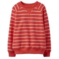 Sweatshirt - Joules Boys MILLER - Red stripe -SALE - 3-4, 5-6, 7-8, 9-10, 11-12y
