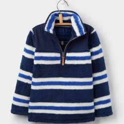 Fleece - Joules Boys Wozzle - Navy stripe