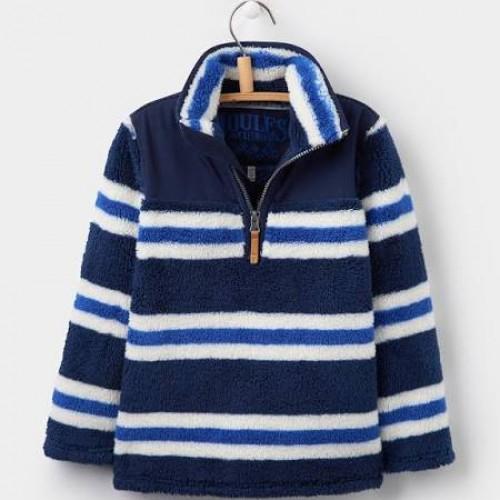 Fleece - Joules Boys Wozzle - Navy stripe