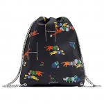 Bag - Joules Rubber Drawstring - Navy Jungle