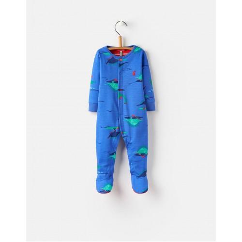 Babygrow - Joules ZIGGY - BLUE DINO PADDLE 0-3, 3-6m