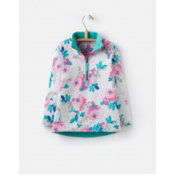 Sweatshirt - Joules Girls - Grey Marl Rosebud - 4,  6y