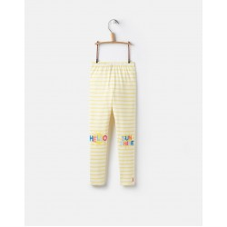 Leggings - Joules Girls - Wilde - Yellow stripe- 1, 2y