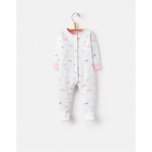 Babygrow - Joules - Girls - Sku blue dog - 0-3 m , 3-6m
