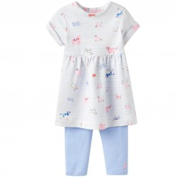 Set - Joules - baby Seren - sky blue dog -  6-9, 9-12m sale