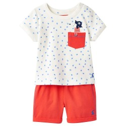Set - Joules -- Barnacle - Sea dog - short sleeve/shorts - 9-12, 12-18, 18-24m