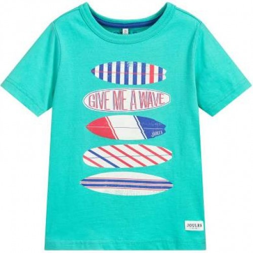 Top - Joules - Boys Ben - Aqua Surfboards -- 3, 4, 7-8y