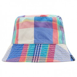 Hat - Joules Boys - Brit - Sun hat  - reversible  - Dazzling blue check - 4-7y, 8-12y (2 x each)