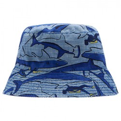 Hat - Joules Boys - Brit - Sun hat  - reversible  -Sharks - 4-7y, 8-12y (2 x each)