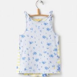 Top - Joules Girls - Iris  Vest top - SKY BLUE SUN  Yellow  -  4, 5, 6y in sale