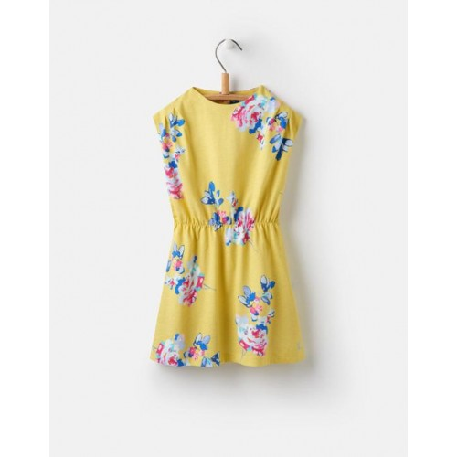Dress - Joules Girls Annabelle - Margate yellow floral - 3, 4, 5, 6