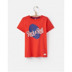 Top - Joules Boys - Ben - Red Dino - 3, 4,, 6