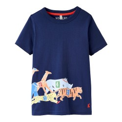 Top - Joules - Boys ray - navy race - 1, 1, 2, 3, 4, 5, 6- sale