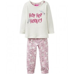 Set - Joules Baby Poppy - Stripe Bunny -  9-12m - sale