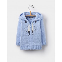 Jacket - Joules Baby - GRIZZLY CHENIELLE - sky blue cat - 12-18m - sale