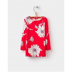 Top - Joules Girls - Harbour - red peony - 2, 3, 4, 5, 6y