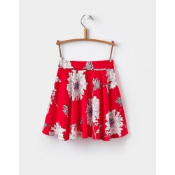 Skirt - Joules - Jen - RED PEONY - 2, 3, 4y - clearance sale