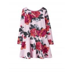 Dress - Joules Girls - JOSIE TRAPEZE DRESS - Rose Pink - 3, 4, 5, 6y