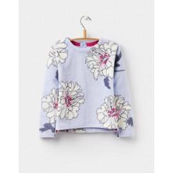 Sweatshirt - Joules  Girls - Lilia - printed fleece sweatshirt - sky blue peony  5, 6, 9-10y