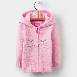 Jacket - joules Baby  Miskin - Pink cat - 0-3, 3-6, m