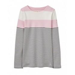 Top - Joules Girls - Harbour - Rose Pink Stripe  - 3 y - sale