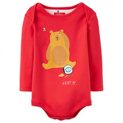 Body - Joules Baby Snazzy  Red Bear - 0-3, 9-12, 12-18, 18-24m