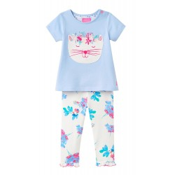 Set - Joules Baby - WINN - floral cat - , 9-12, 12-18m - sale