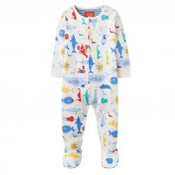 Babygrow - Joules - Ziggy - cream sea - 0-3, 3-6m