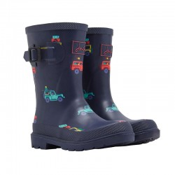 Welly Boots - Joules - NAVY cars SCOUT AND ABOUT - Baby shoe size 4, 5, 6 - sale
