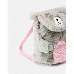Bag - Joules FUZZY CHARACTER BAG - Teddy with pink tummy - sale