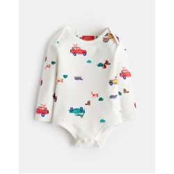 Body - Joules Baby Snazzy - Cream Scout - 0-3, 3-6m  - sale