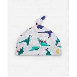 Hat - Joules -  BABY KOO - Grey Dinosaur - 0-3, 3-6m