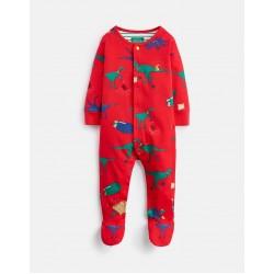 Babygrow - Joules - Ziggy - RED DINO - 0-3, 3-6m
