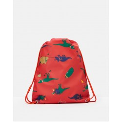 Bag - Joules - RUBBER DRAWSTRING BAG - Red Dino