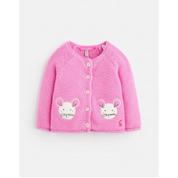 Cardi - Joules - Dorrie - PINK MOUSE - 12-18m
