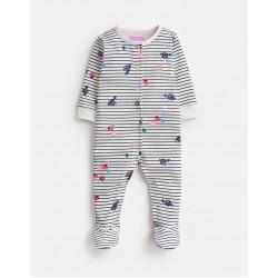 Babygrow - Joules - RAZAMATAZ - Berry stripe - 0-3, 3-6m
